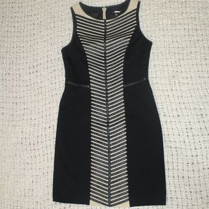 Cynthia Steffe Faux Leather Trim Sheath Dress